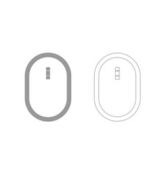Optical mouse the grey set icon vector