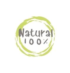 Percent natural food label vector