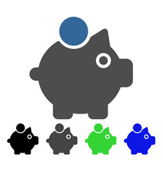 piggy bank flat icon vector image vector image