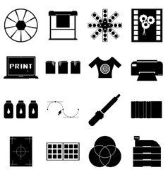 Print items icons set simple style vector