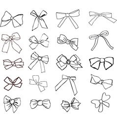 ribbons hand drawn vector image