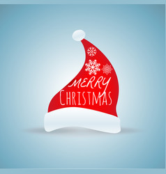 santa claus cap for merry christmas festival vector image