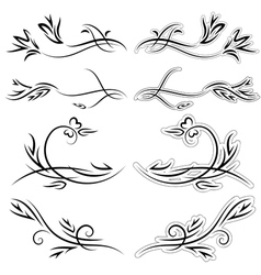 Set of patterns for design on a white background vector