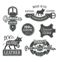 Set of vintage belt logo designs retro vector image