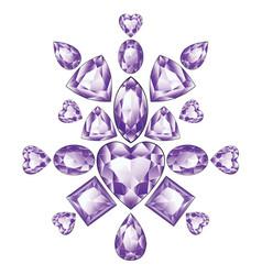 Shiny violet amethyst vector