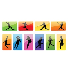 Sportspeople silhouettes vector image vector image