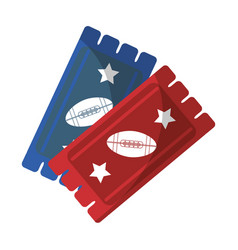 Tickets game american football icon vector
