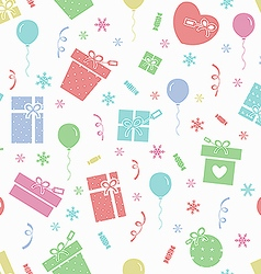 Winter holidays pattern vector image vector image