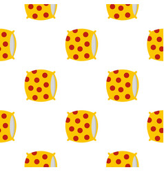 Yellow pillow with red dots pattern seamless vector