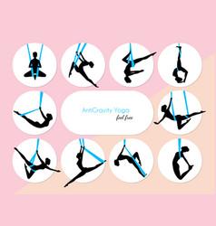 10 anti-gravity yoga vector