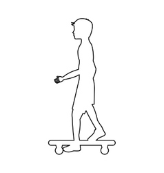 Skate board extreme sport vector
