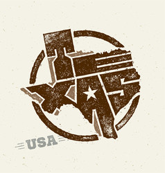 Texas the lone star usa state creative vector