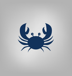 Crab flat icon vector