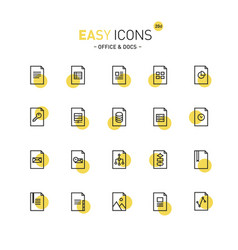 easy icons 20d files vector image