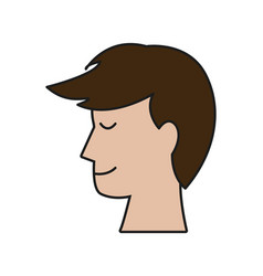 profile head man smile people image vector image