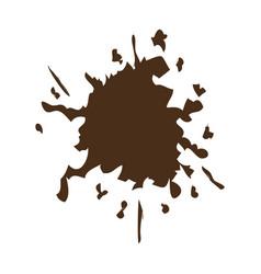 Brown splash color paint explode image vector