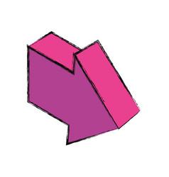 Arrow pointing right 3d vector