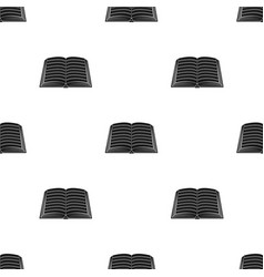 Book icon in black style isolated on white vector