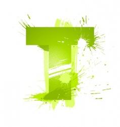 font letter t vector image