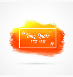 Orange watercolor stain background with text space vector
