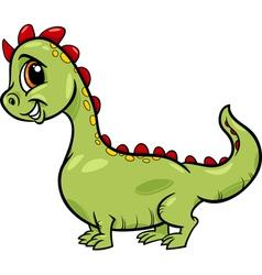 cartoon dragon cute fantasy character vector image