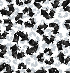 Black recycle signs seamless pattern geometric vector