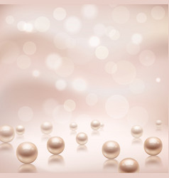 Luxury pearls background vector