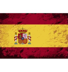 Spanish flag grunge background vector
