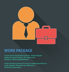 Work package icon vector