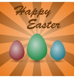 Background colored eggs vector