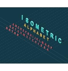 Isometric design style alphabet vector