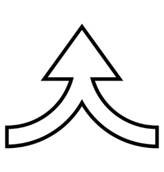 Connection arrow up stroke icon vector