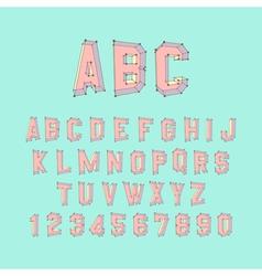 Alphabet set 3d design element vector