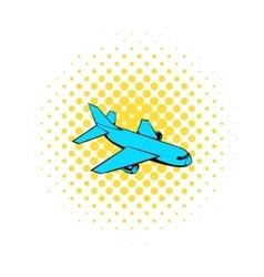 Passenger airplane icon comics style vector