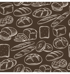 Seamless hand draw bread pattern vector