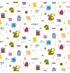 Monsters for kids design seamless pattern vector