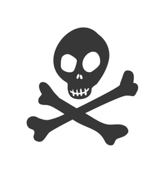 Skull icon death design graphic vector