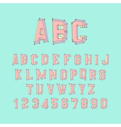 Alphabet set 3d Design element vector image vector image