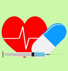 arrhythmia treatment vector image vector image