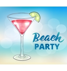 Beach party poster template vector image