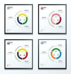 Circle infographic 4 style color vector