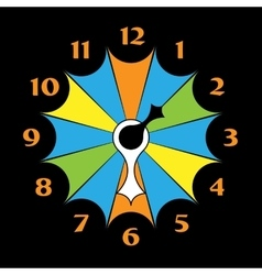 Colored clocks with arrows vector image