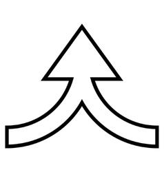 Connection arrow up stroke icon vector