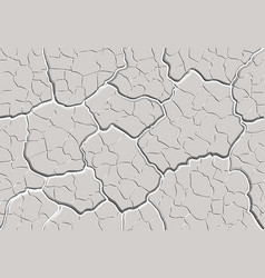 Cracked plaster seamless pattern vector