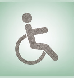 disabled sign brown flax vector image vector image