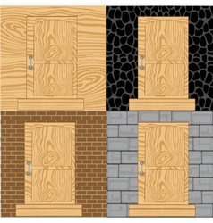 Door in wall vector image
