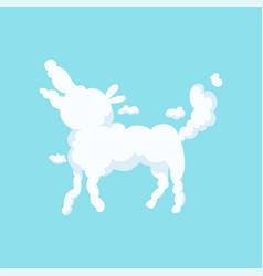 Fluffy cloud in bizarre shape of dog children vector