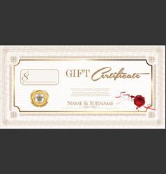 Gift certificate retro design template vector