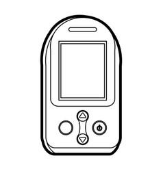 Glucometer healthcare icon image vector