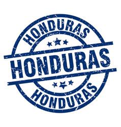 Honduras blue round grunge stamp vector